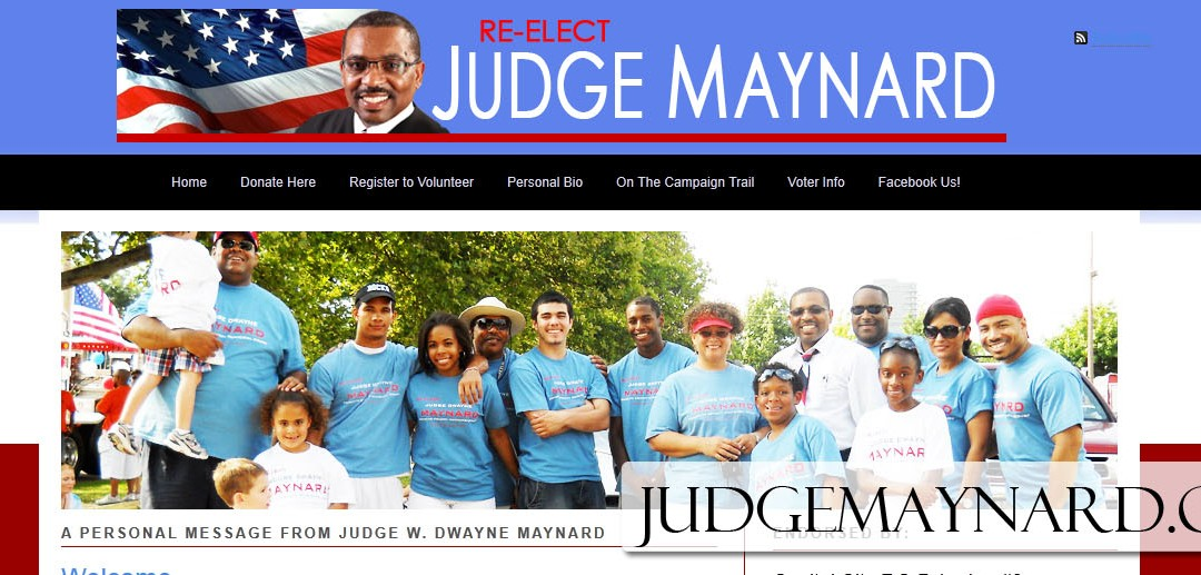Website for Judge Maynard Re-Election Campaign