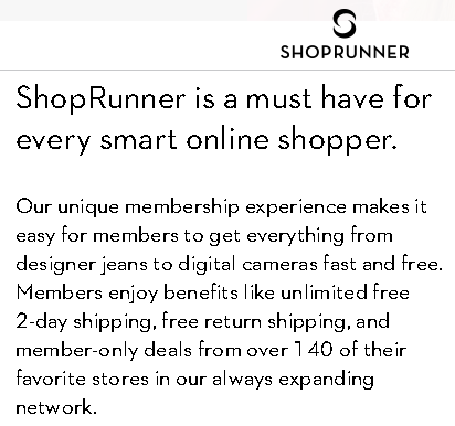 Shoprunner Integration